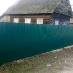 Забор в Жлобине из металлопрофиля