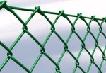 Забор в Жлобине из сетки рабицы