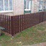 Забор в Жлобине из металлоштакетника