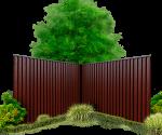 Забор в жлобине из метталопрофиля